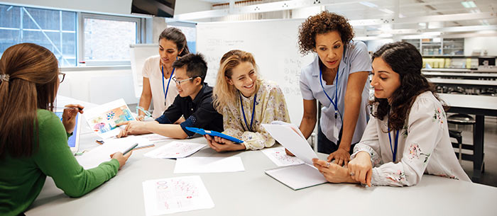 Diverse group of women involved in STEM