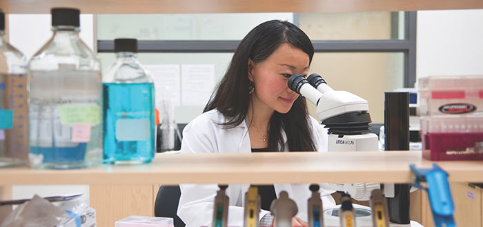 Female scientist working in a CASTL facility