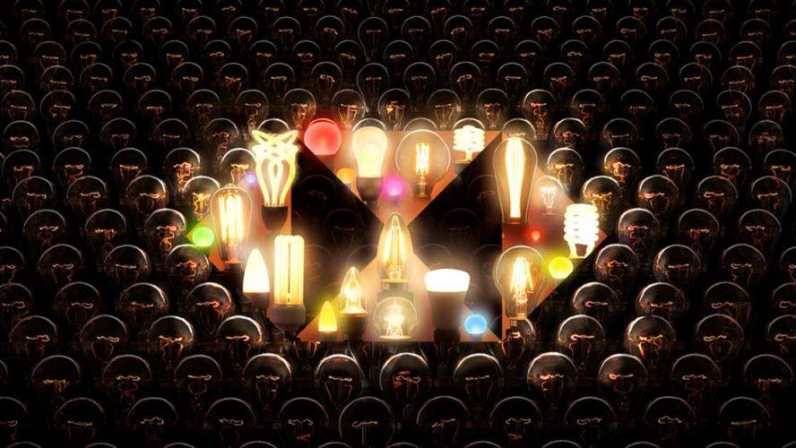 HSBC logo made of lightbulbs