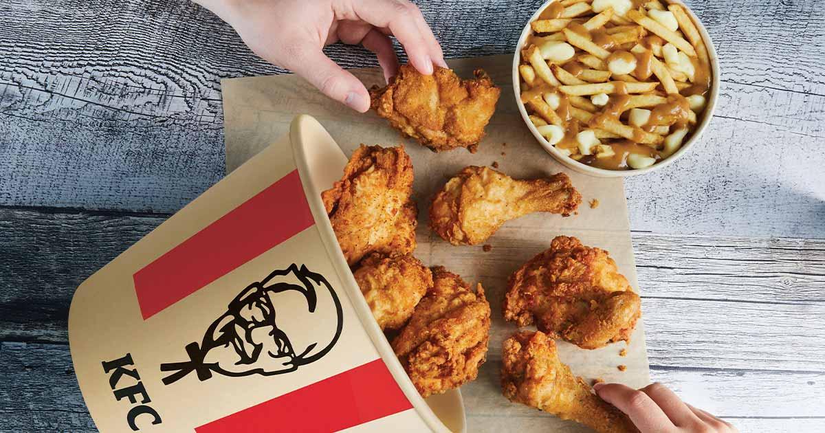 KFC's bamboo chicken bucket