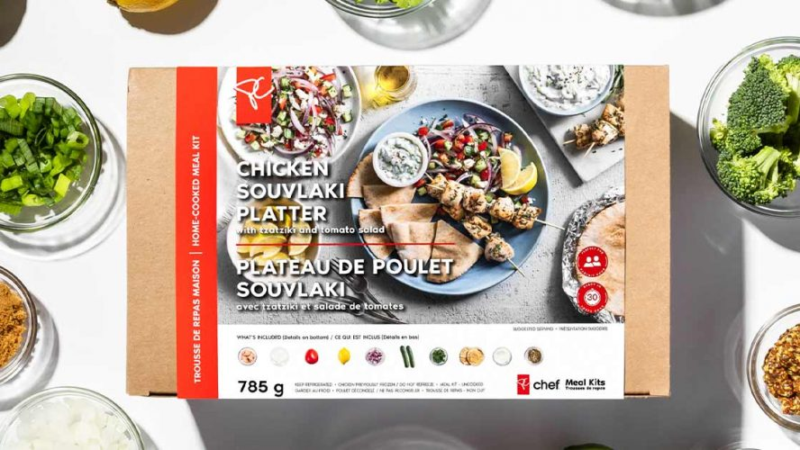 PC Chef Chicken Souvlaki Platter box
