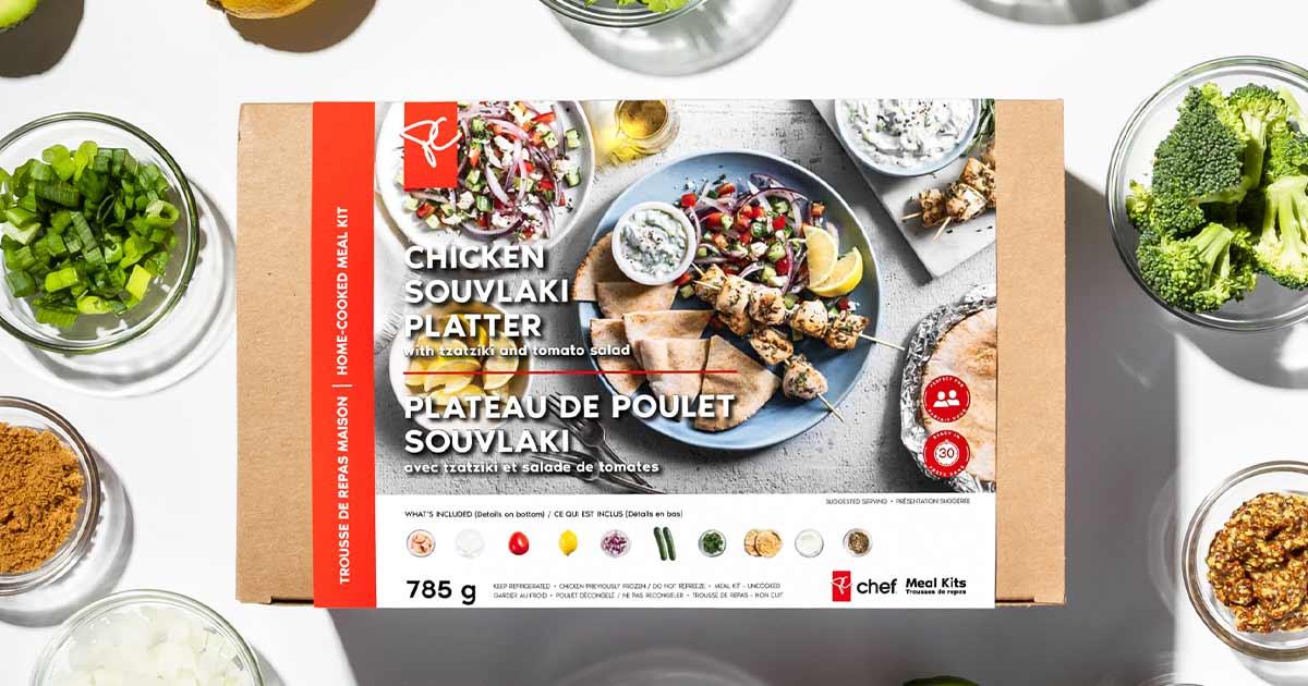 PC Chef Chicken Souvlaki Platter box