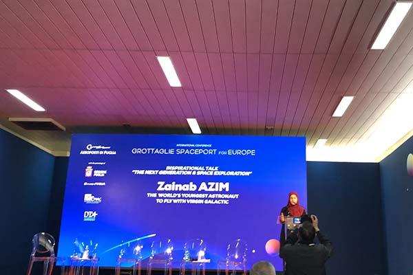 Zainab Azim speaking
