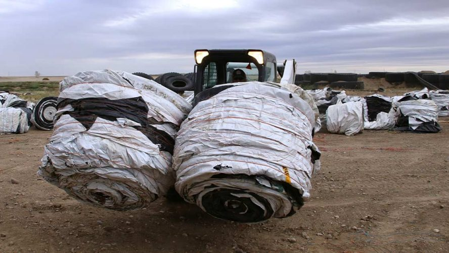 Bringing plastic waste from a farm into the circular economy