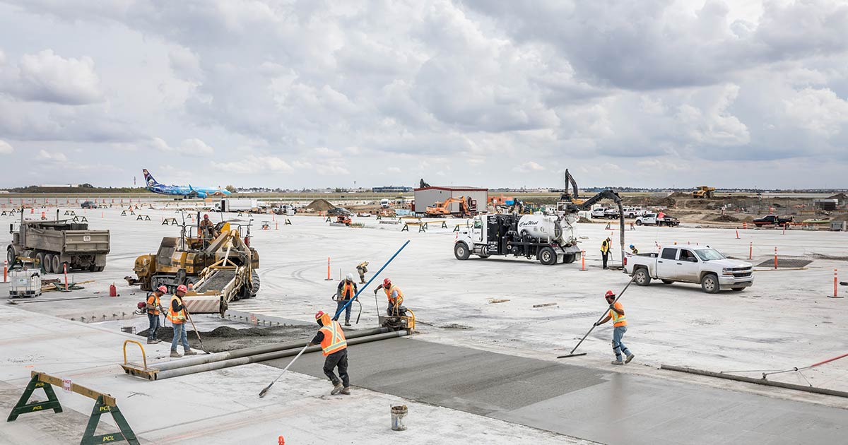 CarbonCure at Calgary International Airport