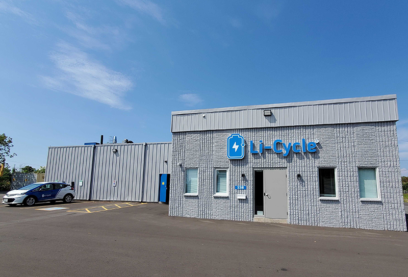 Li-Cycle, a Canada-based lithium-ion battery recycling company.