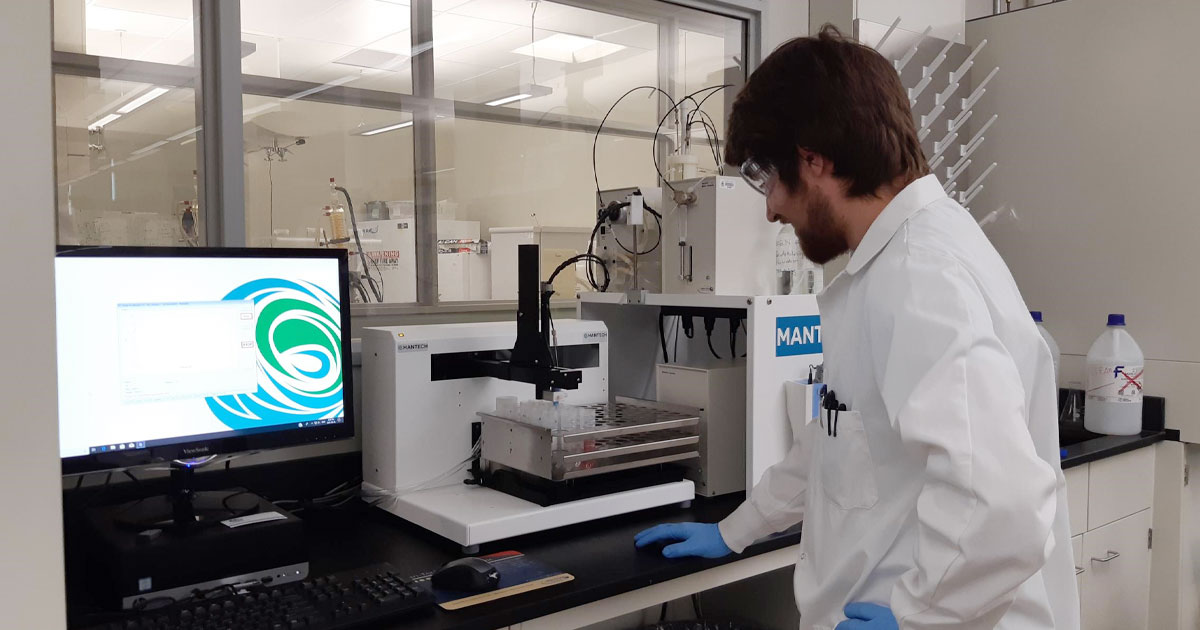 MANTECH specialist in the lab