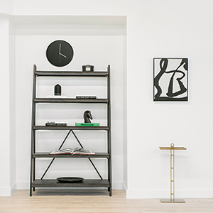 A display of bookshelf for workspaces