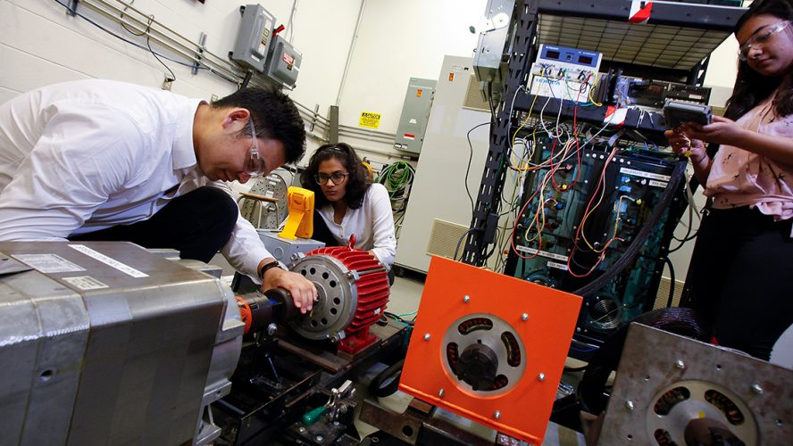 Electrical Engineering students contributing to world-class electric vehicle research with Dr. Narayan Kar