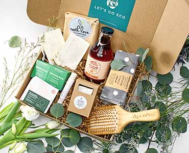 LET'S GO ECO products in a box