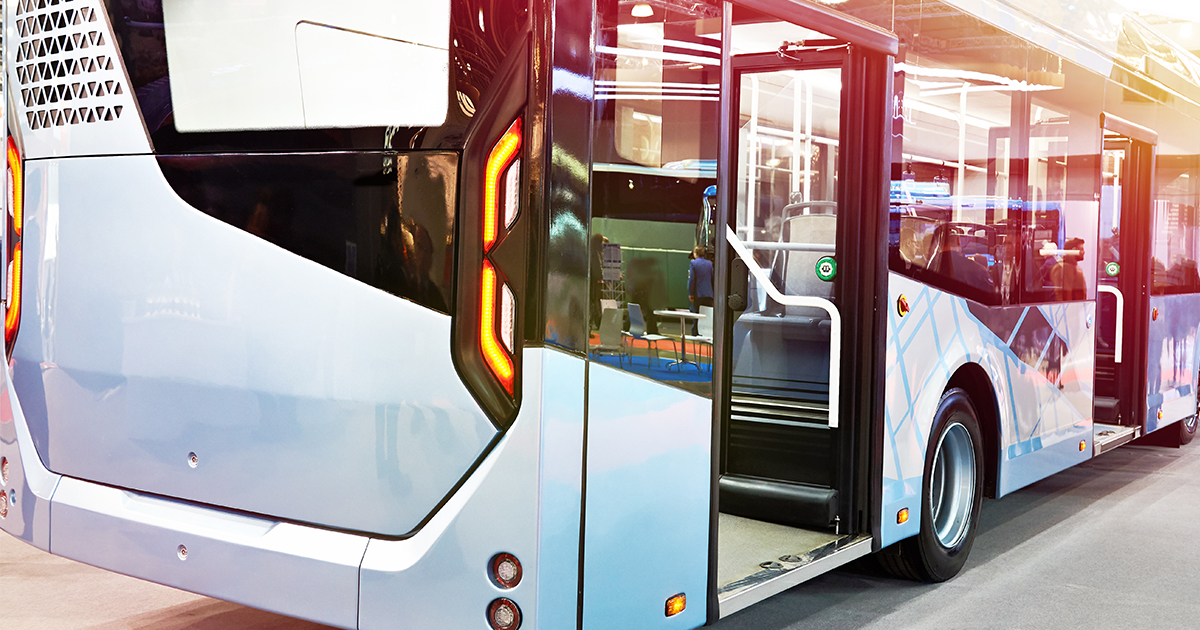 Modern city bus