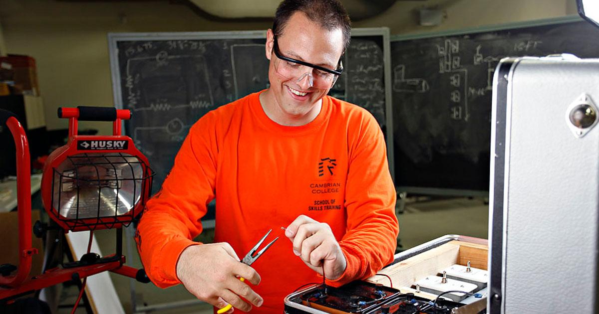 Technician working