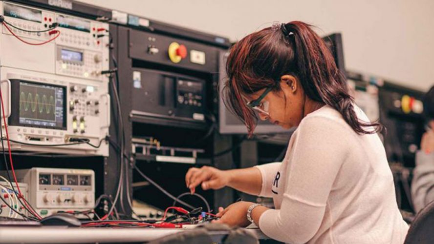 Woman Doing Engineering Work