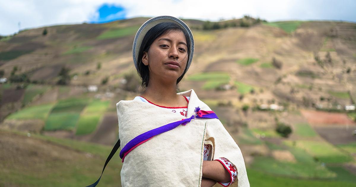 Woman In Ecuador