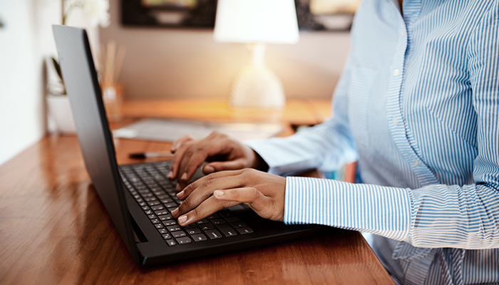 Women working on a laptop