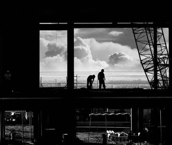 Construction workers onsite