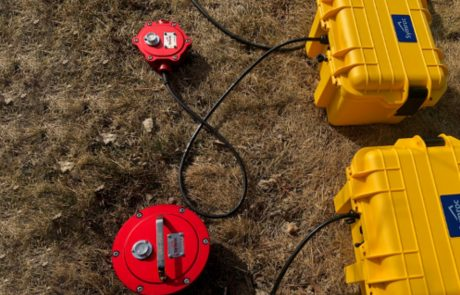 Symroc's seismicity sensors in the ground to monitor ground motions