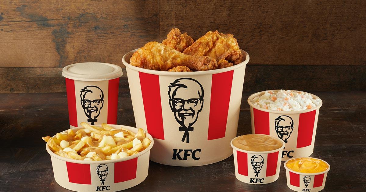 KFC chicken bucket gravy