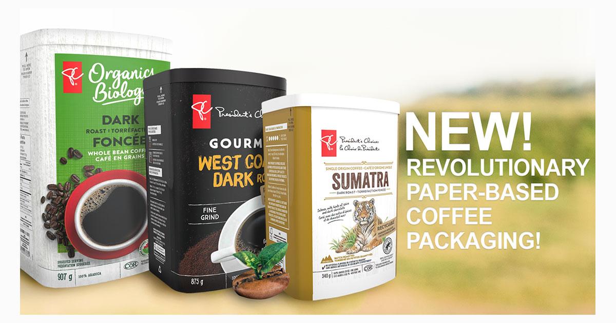 club coffee paper packaging