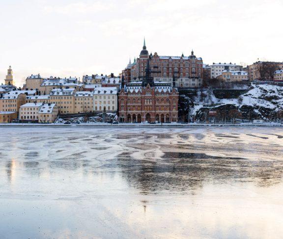 Is på vattnet i Stockholm stad.