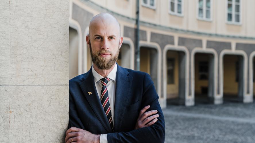 Carl Oskar Bohlin Riksdagsledamot, (M). Foto: Axel Adolfsson