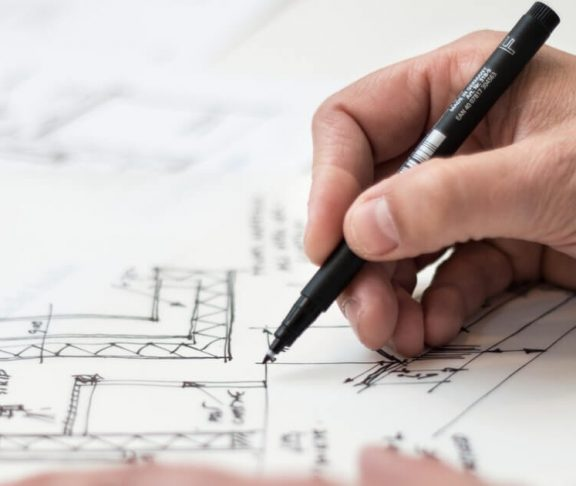 Arkitekttegninger close up
