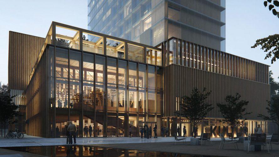 En 3D-ritning av ett nytt kulturhus.