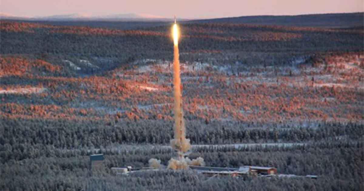 Uppskjutning raket