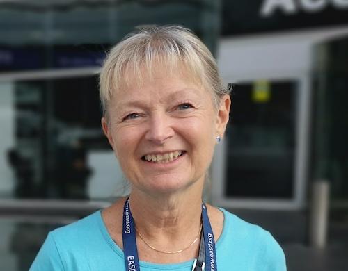 Margareta Hellgren, specialistläkare i allmänmedicin vid Närhälsan Södra Ryd vårdcentral i Skövde. På plats under EASD 2019 i Barcelona.