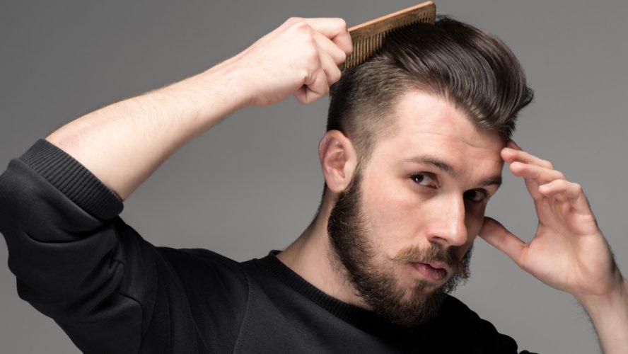 Kräftiges Haar- von der Wurzel an