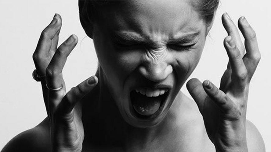 stressad kvinna