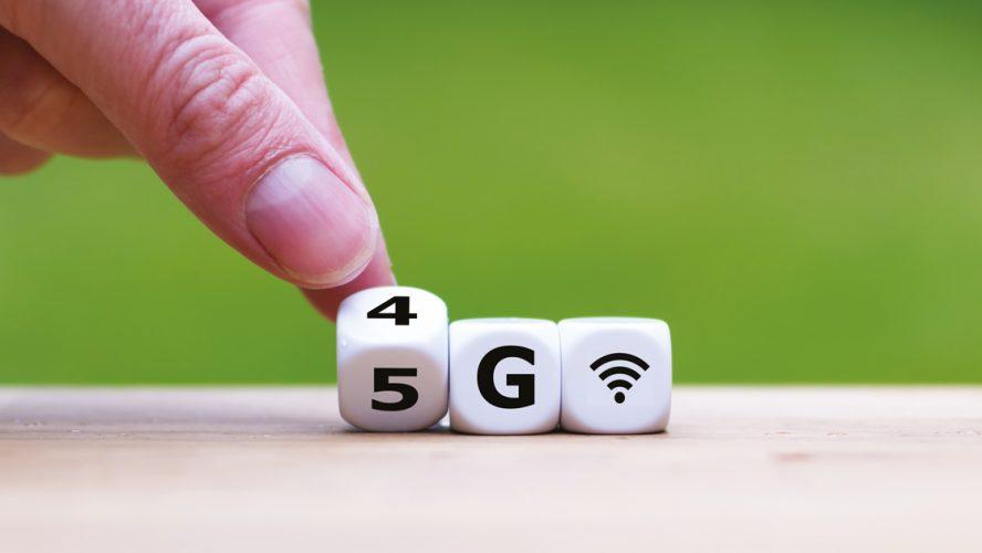 Tärningar med texten 5G.