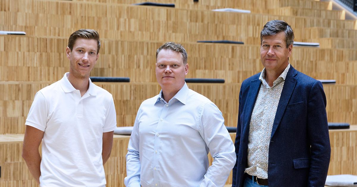Martin Östberg, Elias Hedbäck och Bertil Bångman.