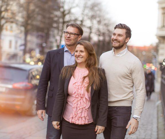 Sten R. Sörensen, Vd Cereno Scientific AB, Klementina Österberg, Vd GU Ventures AB samt Erik Gatenholm, medgrundare, Vd Cellink/BICO AB. Foto: Ingela Vågsund