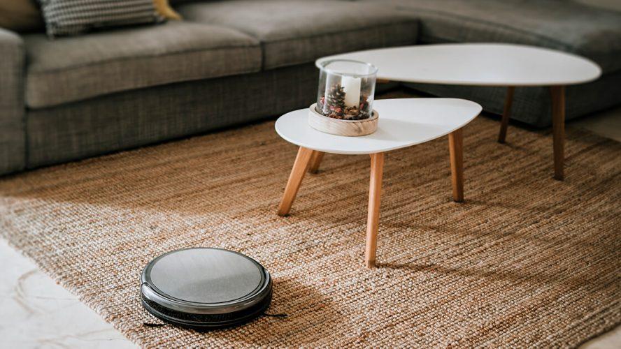 Robotstøvsuger i privat hjem