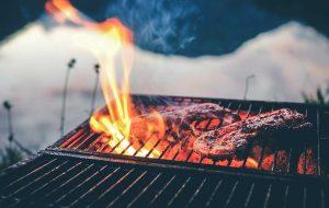 lammracks på grill