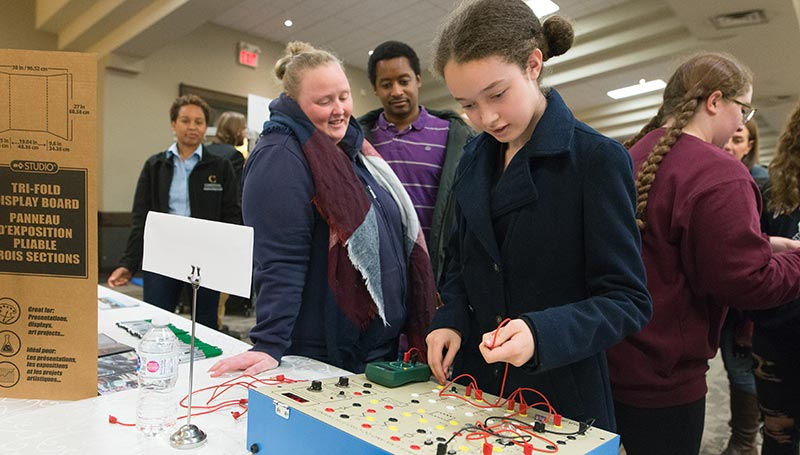 A family learns about the many tech aspects of skilled trades careers