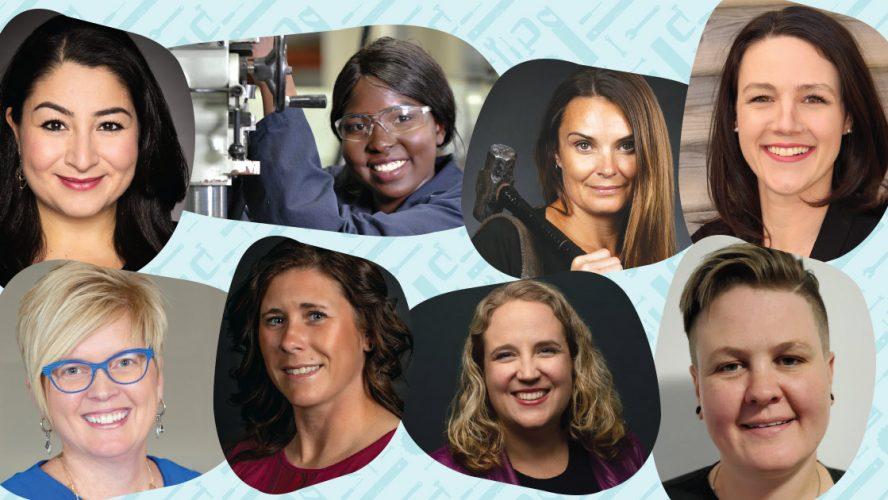 Women in Trades panel header