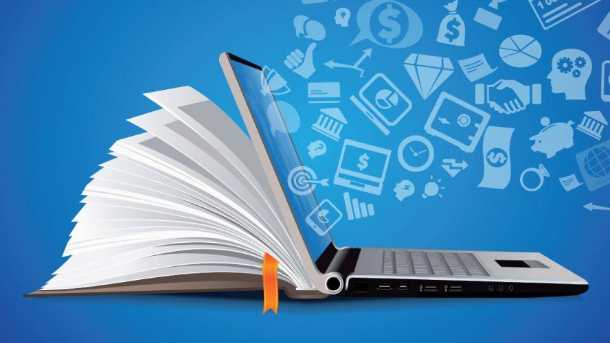 Online education on laptop through Internet