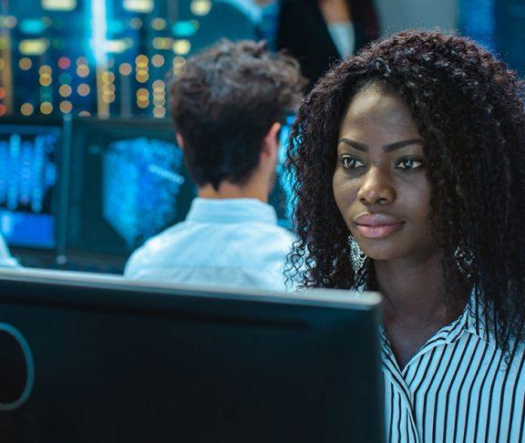 supply chain canada black woman computers