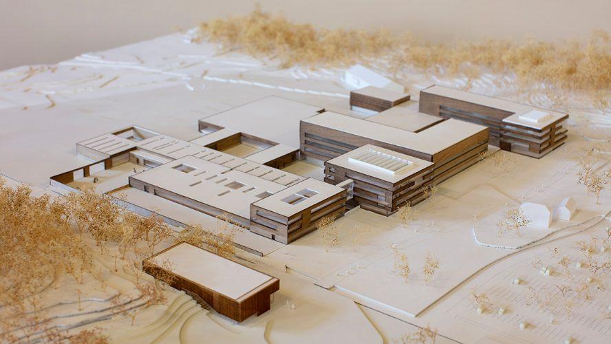 Illustrasjon av den nye Veterinærhøgskolen