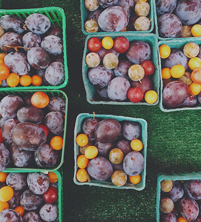 Plums and tomatoes