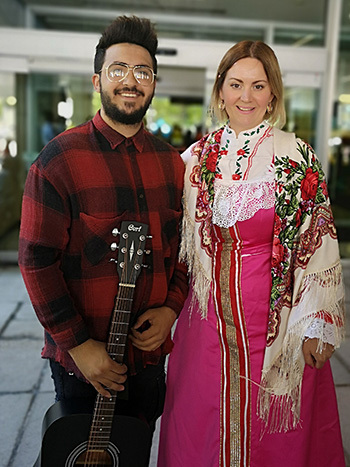 A couple in traditional garb.