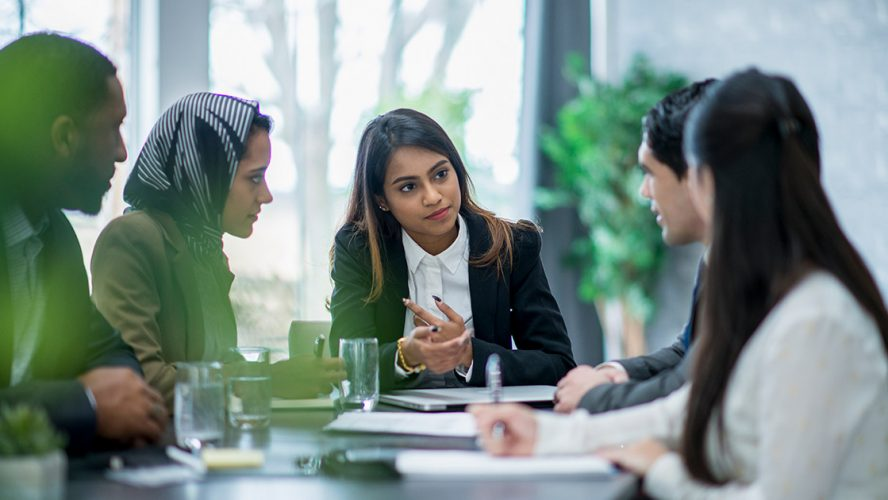 Business meeting of younger professionals