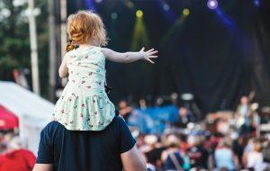 Toddler at a concert
