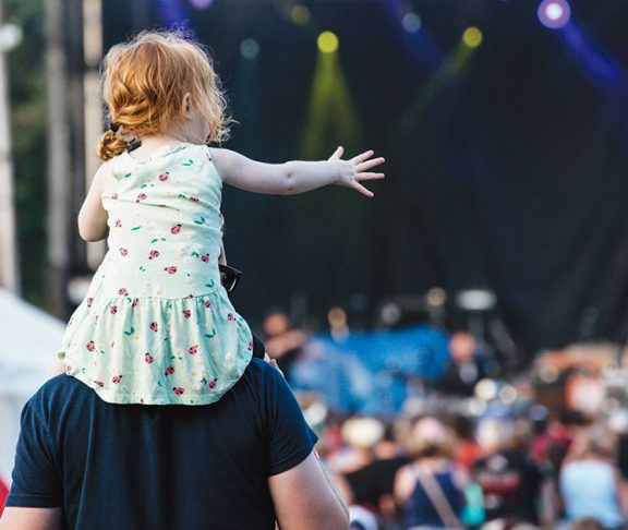 Toddler at a concert