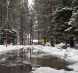 Street flooded for winter