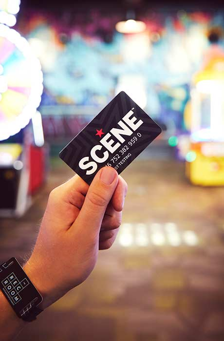 Using a SCENE card at The Rec Room