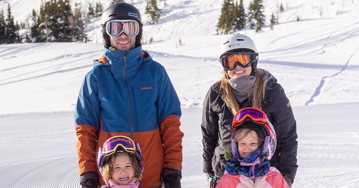 Annika Mang Family on Ski Hill