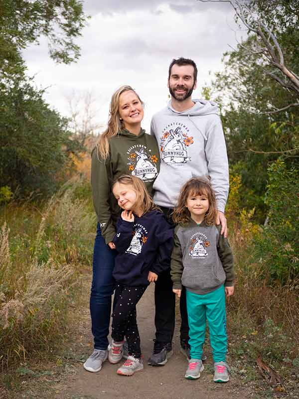 Annika Mang Family Photo in Forest